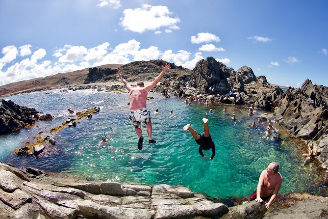Optional cliff jumping