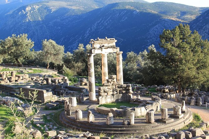 Transfer to Corfu from Athens including visit to Delphi