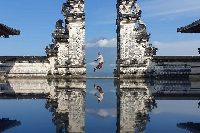 Gate of heaven bali , water palace , waterfall and jungle swing