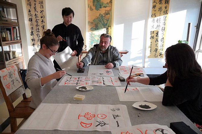 Private Illuminated Beijing Tour with Traditional Chinese Calligraphy Experience