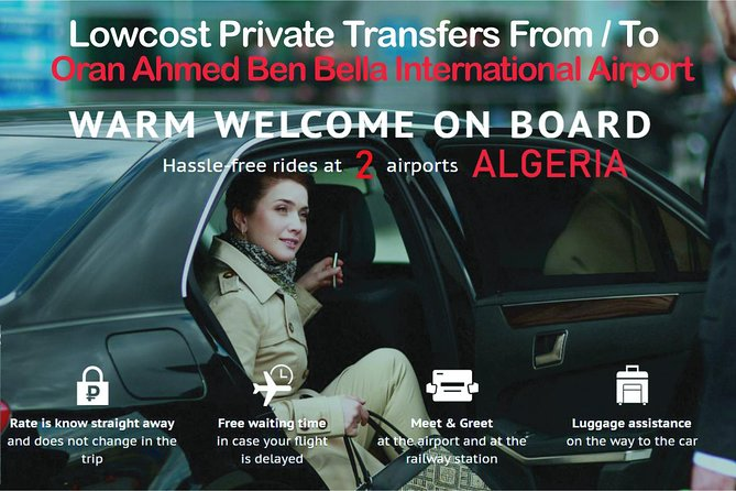 Oran Ahmed Ben bella Airport Private Arrival or Departure Transfer to Oran City photo 1