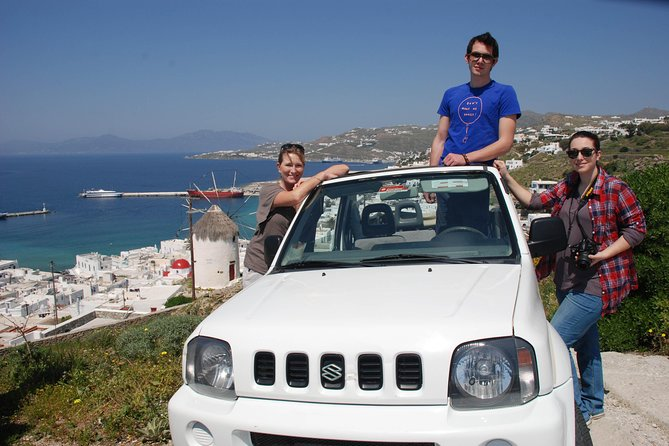 Mykonos Private Jeep Safari up to 3 customers