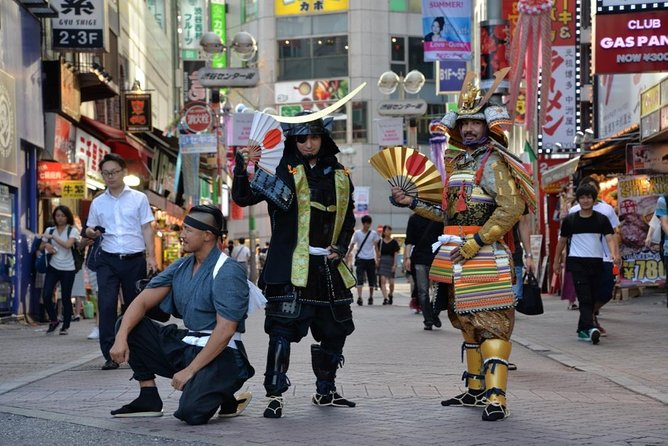 Samurai photo shooting at Street in Shibuya photo 1