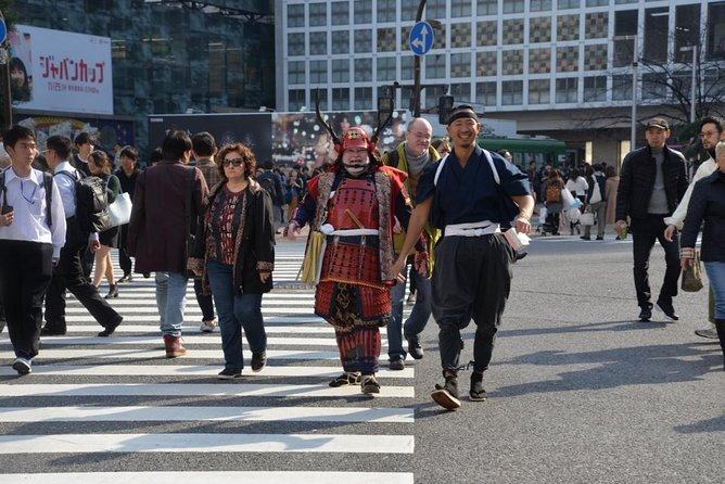 Samurai photo shooting at Street in Shibuya photo 2