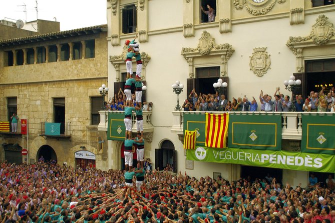 Castellers Small Group Experience, Winery Tour with Optional Tapas
