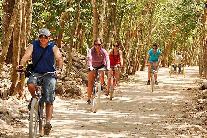 Experience Tour Tulum, Coba, Playa del carmen & Cenote (Include Bike Rental)