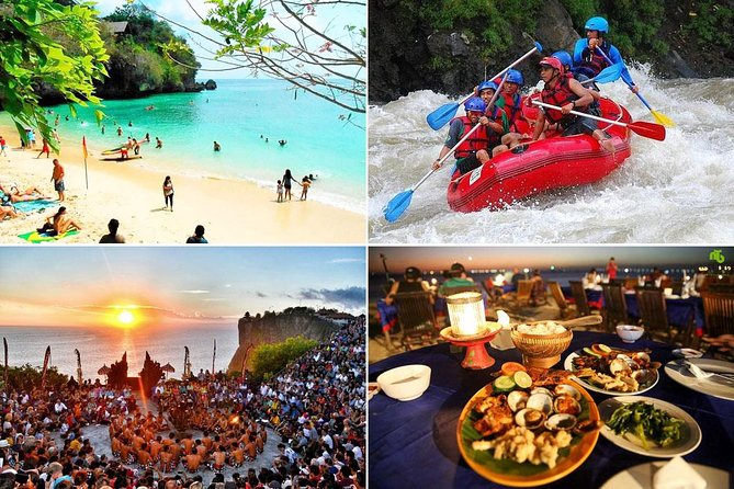 Ayung White Water Rafting and Uluwatu Sunset Tour : Bali Best One Day Trip