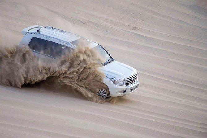 (Private)Desert Safari Dune Bashing, Camel Ride, Sand Boarding, Inland Sea Visit