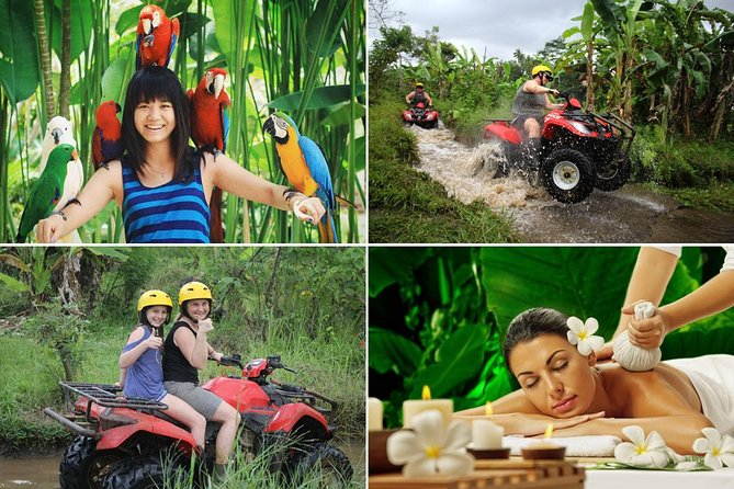 Bali Bird Park - ATV Ride - Spa : Best Quad Bike Packages