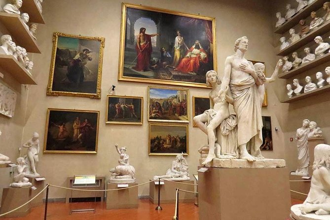 Accademia Gallery Tour with Aperitivo (Happy Hour) in oldest café in Florence