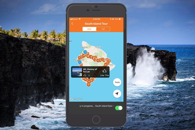 Big Island - South Island Coastal Loop Driving Tour App photo 1