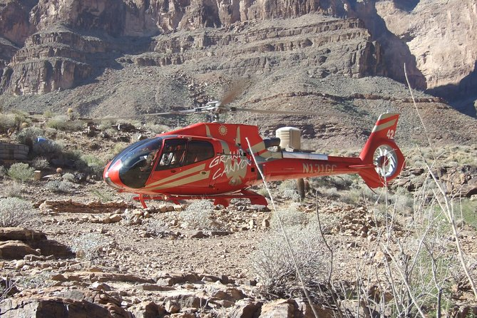 Grand Canyon West Rim Day Trip by Bus, Helicopter, and Boat with Optional Skywalk