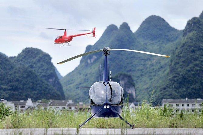 Excursão privada de um dia a helicóptero e Guilin Yangshuo