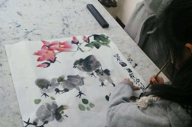 3-Hour Tradtional Ink and Brush Painting with Calligraphy Workshop in Beijing photo 3