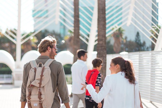 Clients Chatting on the City of Arts & Sciences Tour
