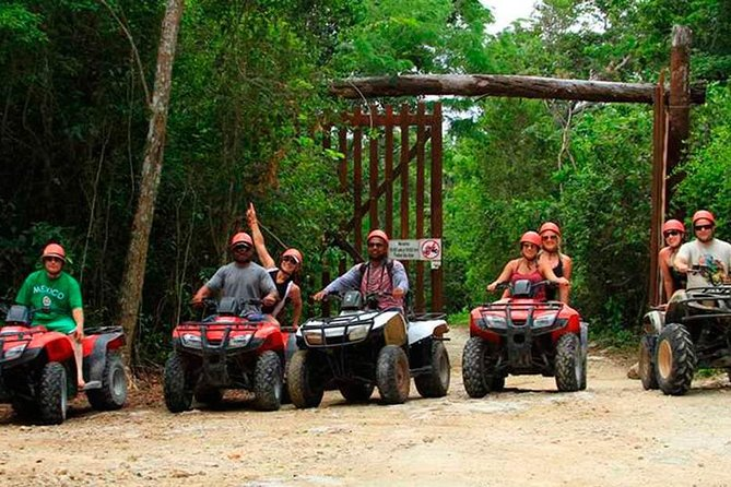 Experience ATV (shared) Zipline & Cenote from Cancun with lunch