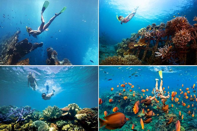 Snorkeling in Blue Lagoon Padang Bai Bali : Snorkel in the clear blue waters