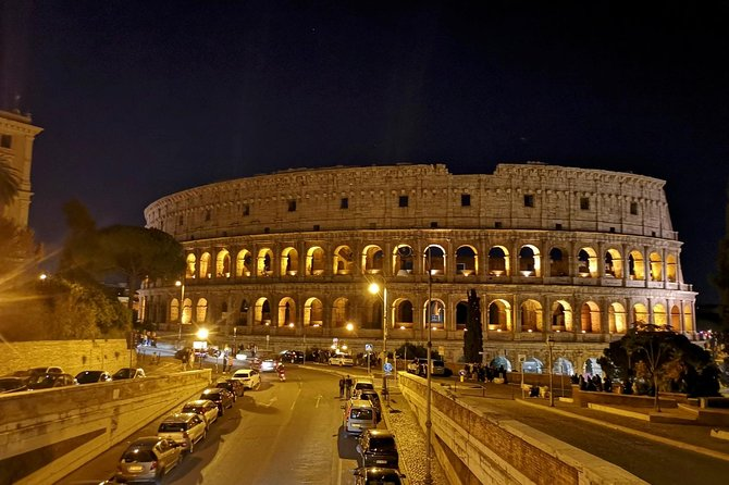 Private Rome by Night Driving Tour with Dinner