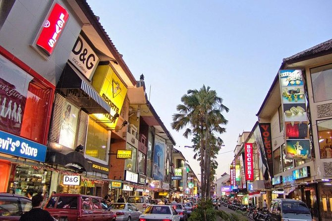Kuta District Shopping Trip with Spa Massage