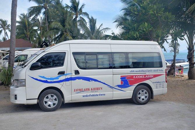 Faites-vous chercher à votre hôtel à Samui en minibus partagé