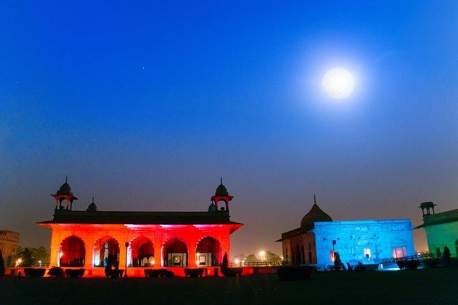 Red Fort Sound and Light Show in Delhi met diner en privé transfer