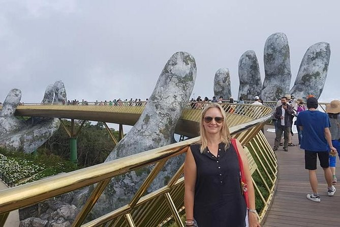 Day Trip toGOLDEN BRIDGE,Ba Na Hills via Cable Car Early Morning to Avoid Crowds