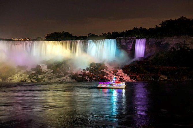 After sunset with the Illumination of the Falls