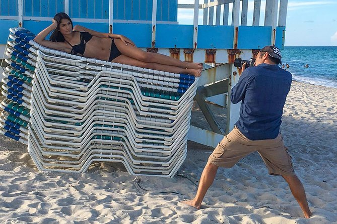 Be a Swimsuit Supermodel. Professional Miami Beach Photoshoot for 1 or 2 People