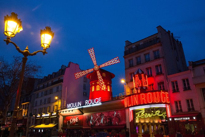 Seine River Dinner Cruise & Moulin Rouge Cabaret Parisian Evening Experience