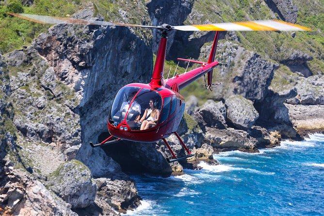 Passeio de helicóptero na Ilha Sanoa saindo de Punta Cana