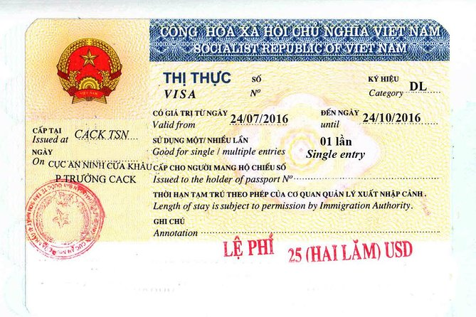 Vietnam Visa on arrival - Immigration