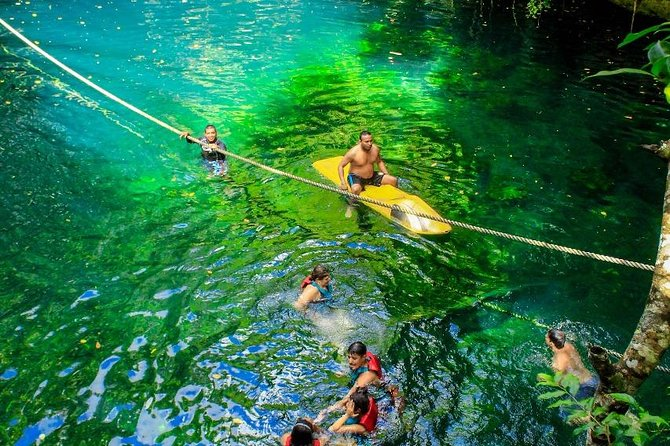 From Cancun discover a real adrenaline experience with Atvs ziplines an a Cenote