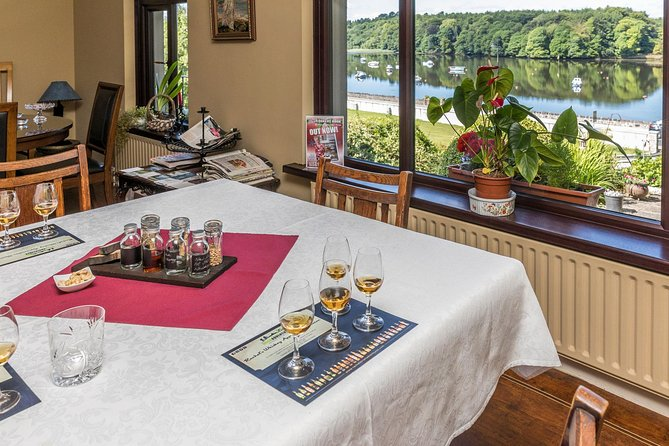 Enjoy whiskey while overlooking the river