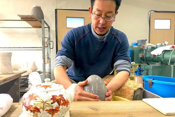 Kiyomizu-yaki Pottery Workshop in Kyoto (optional Wheel Throwing)