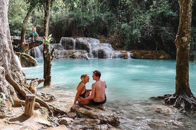 Pak Ou Cave and Kuang Si Waterfall Tour from Luang Prabang