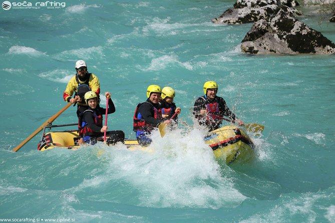 Rafting adventure on Soca river