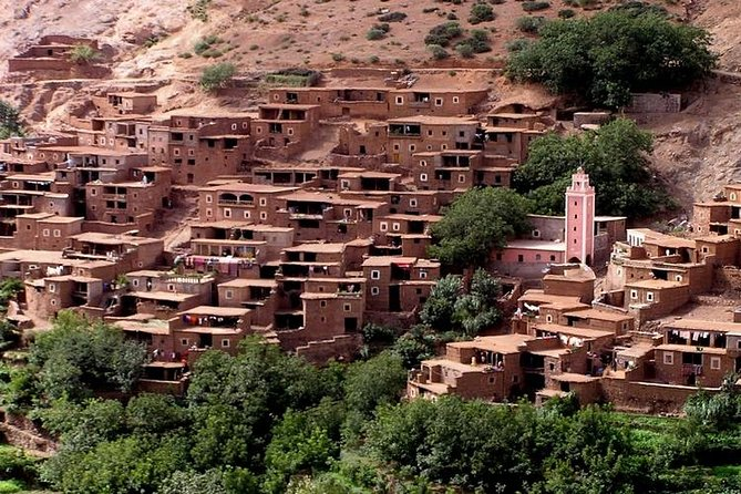 Day trip to atlas Mountains And 3 Valley & Berber Villages with Camel Rid