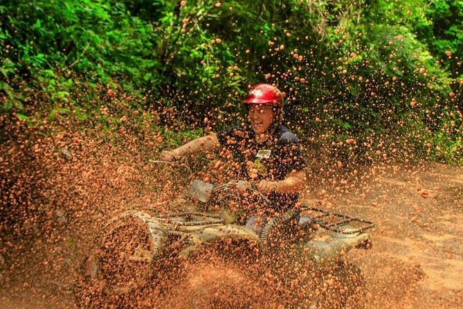 Atv in Cancun with Cenote swim, Ziplines, transportation and lunch included