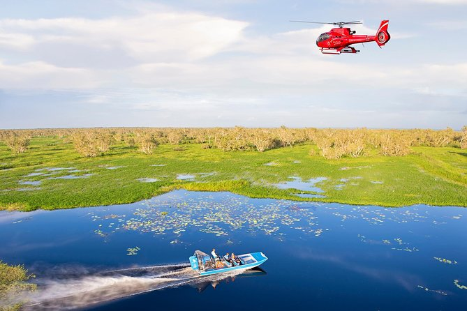 Mary River Wetlands Helicopter and Airboat Adventure from Darwin