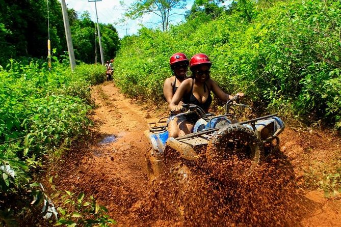 Best ATV Tour, Five Ziplines and Cenote Swim with Lunch and transport Included
