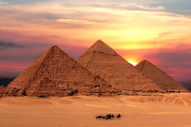 Day Tour to Giza pyramids sphinx Egyptian museum bazaar camel ride Nile cruise
