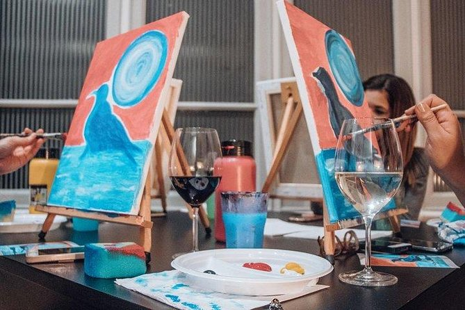 Paint & Wine Party in Piazza Navona