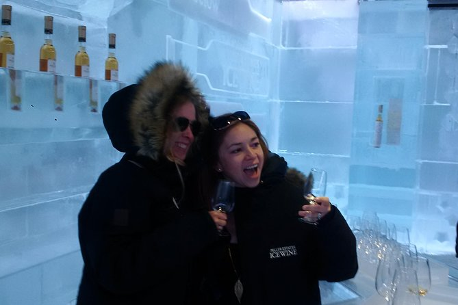 Enjoying ice wines in Peller Estates' Ice Wine Lounge, only one of its kind in North America