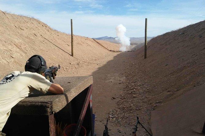 Paquete de tiro al aire libre desde Las Vegas con vehículo todoterreno y recorrido en helicóptero por el Gran Cañón opcional