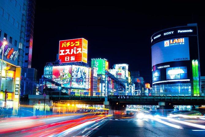 Excursão fotográfica em Tóquio a noite