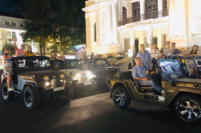 Private Jeep Tour Saigon by Night Including Dinner photo 3