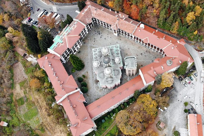The monastery complex from the sky