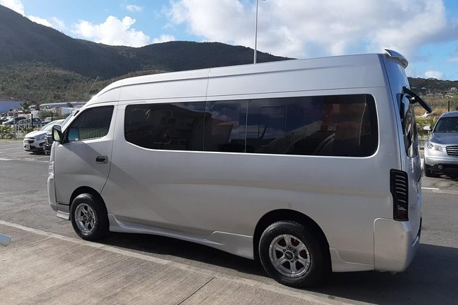 Group of 2 to 10 persons private transportation in St Maarten