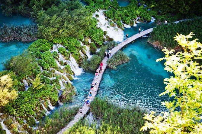 Tour guidato per piccoli gruppi dei laghi di Plitvice da Spalato e Trogir