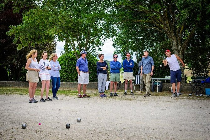 Petanque (boules) lesson in Provence